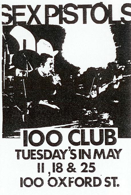 100 Club Flyer, May 1976