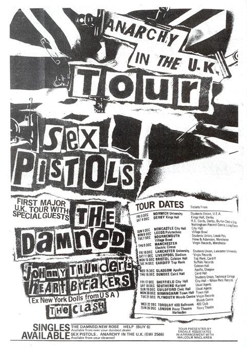 Anarchy Tour Advert, December 1976