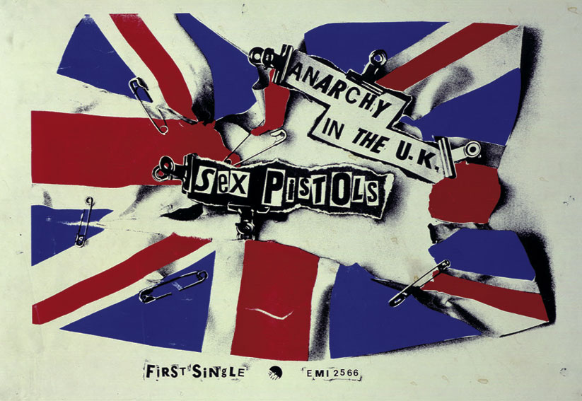 Anarchy in the UK Flag: EMI Promotional Poster, 1976