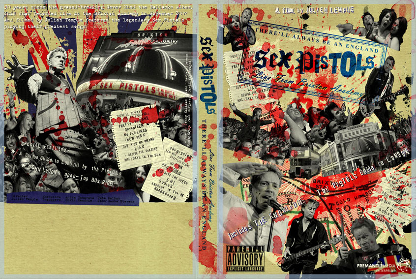 Sex Pistols: Therell Always Be An England DVD Artwork Preview. Artwork by Jonny Halifax / John Rambo Stevens