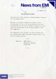 EMI Press Release, January 6th 1977