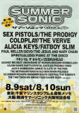 9.8.08 Summer Sonic Tokyo, Mountain Stage, Japan - Flyer