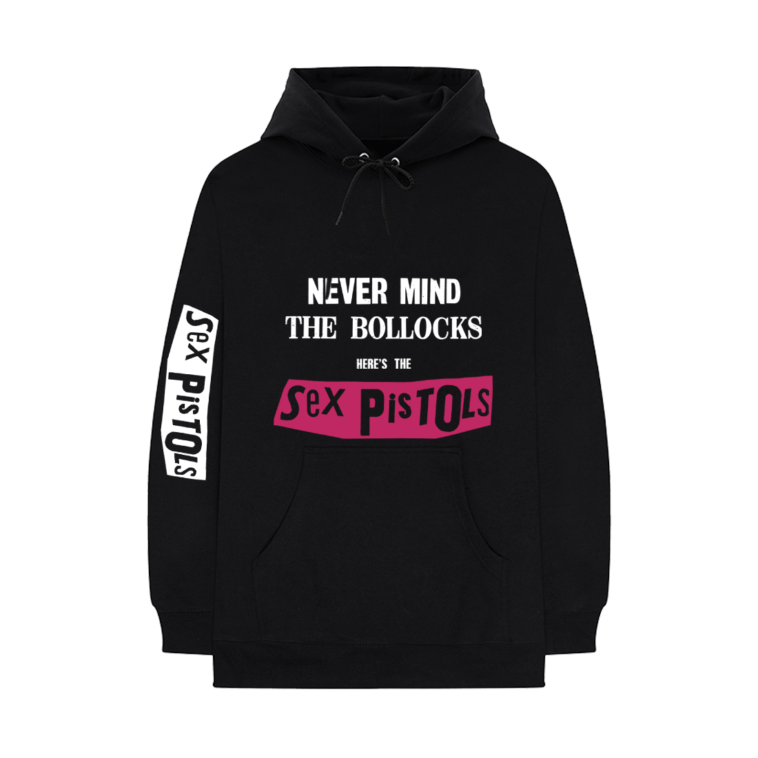 Never Mind The Bollocks - Black Hoodie (front)
