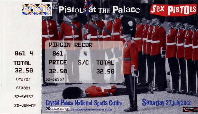 Crystal Palace National Sports Centre, London, UK, July 27th 2002 - Ticket