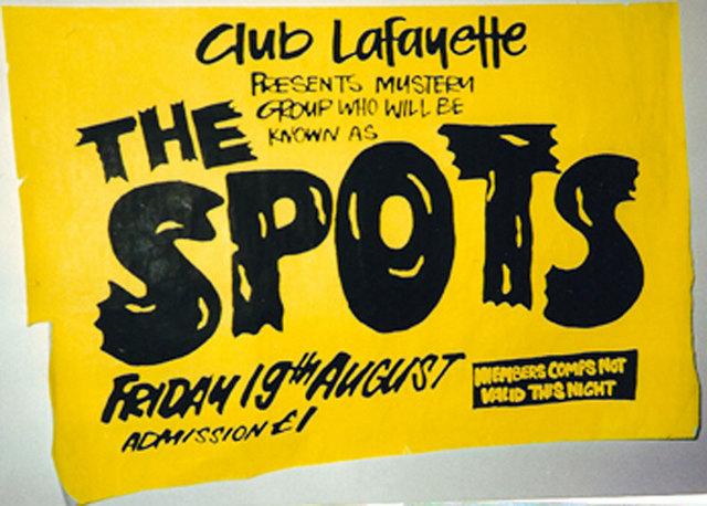 "Lafayette Club, Wolverhampton, August 19th 1977  – ""S.P.O.T.S"" (Sex Pistols On Tour Secretly) - Poster"