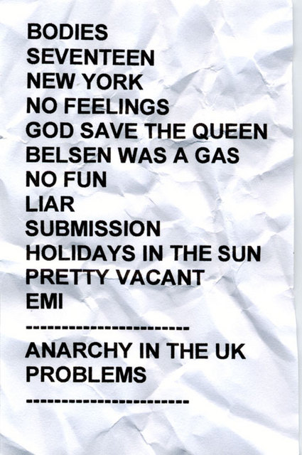 2002 North American Tour - Set List 2002