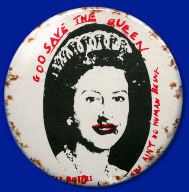God Save The Queen - badge