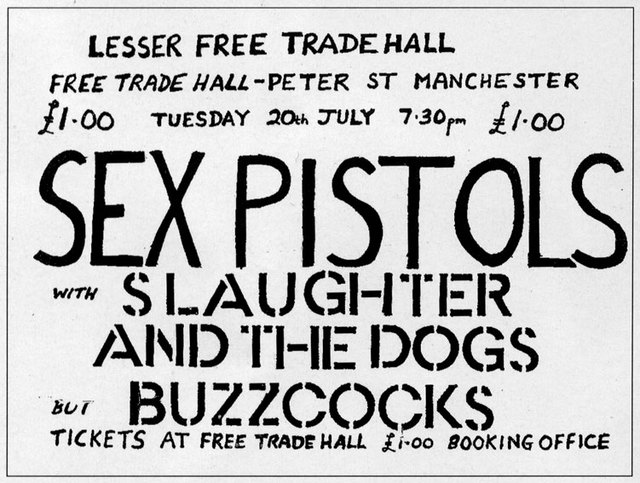 20.7.76 Lesser Free Trade Hall, Manchester, July 20th 1976 - Poster