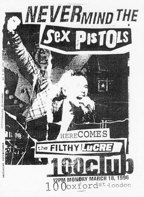 100 Club, March 18th 1996 - Press Conference Fax Invite