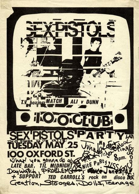100 Club, May 25th 1976 - Flyer