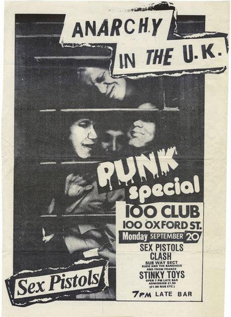 100 Club, September 20th 1976 - Flyer