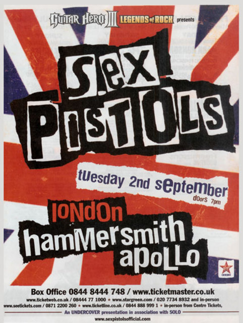 London, Hammersmith Apollo 2nd September 2008 - press ad