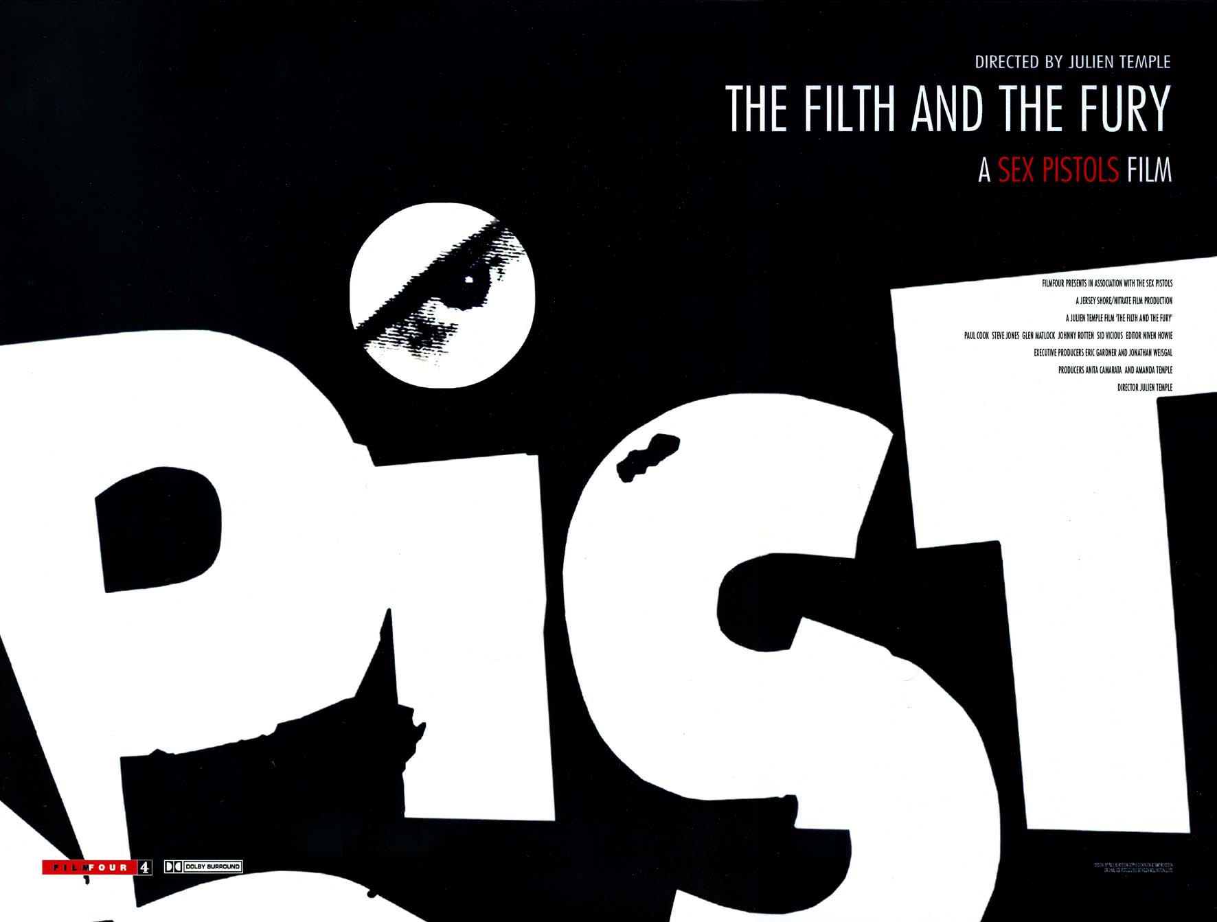 The Filth and the Fury - UK Poster 2000