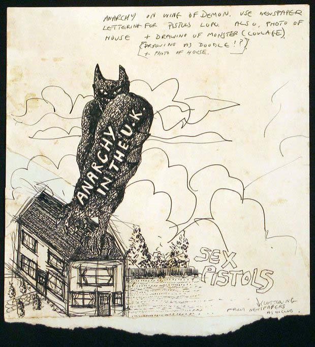 Anarcy in the UK (original unused artwork) 1976