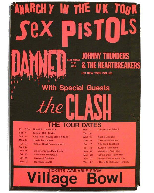 Anarchy Tour - Poster December 1976