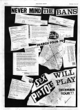 Sex Pistols Will Play, December 1977 - Flyer (front)