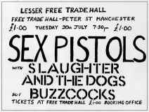 Lesser Free Trade Hall, Manchester, July 20th 1976 - Poster