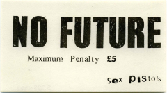 No Future Sticker 1977