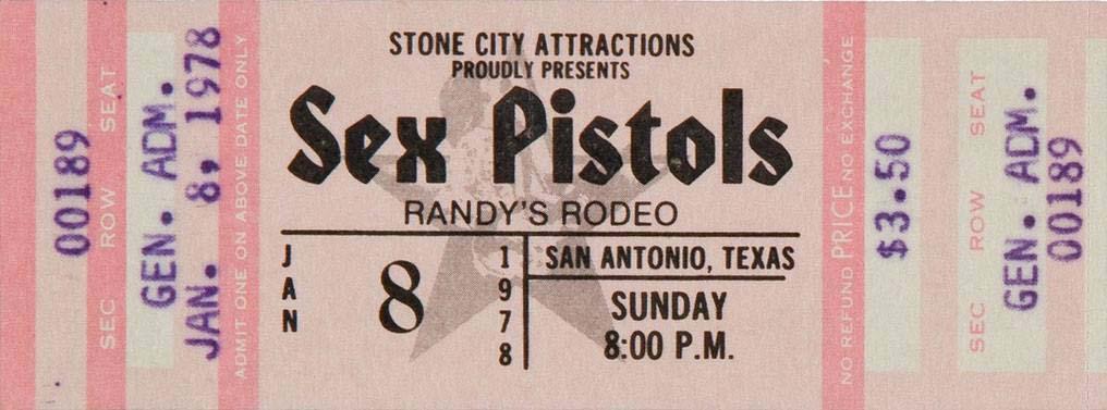 Randy's Rodeo, San Antonio, Texas, USA, January 8th 1978 - Ticket
