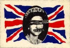 God Save The Queen - Mug Sticker, 1977