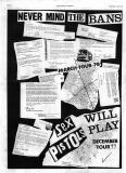 Sex Pistols Will Play, December 1977 - Flyer (front)