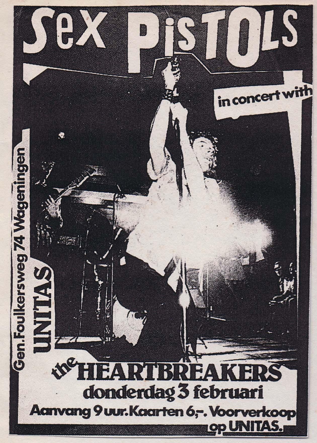 Holland, Febraury 3rd 1977 - Flyer (cancelled)