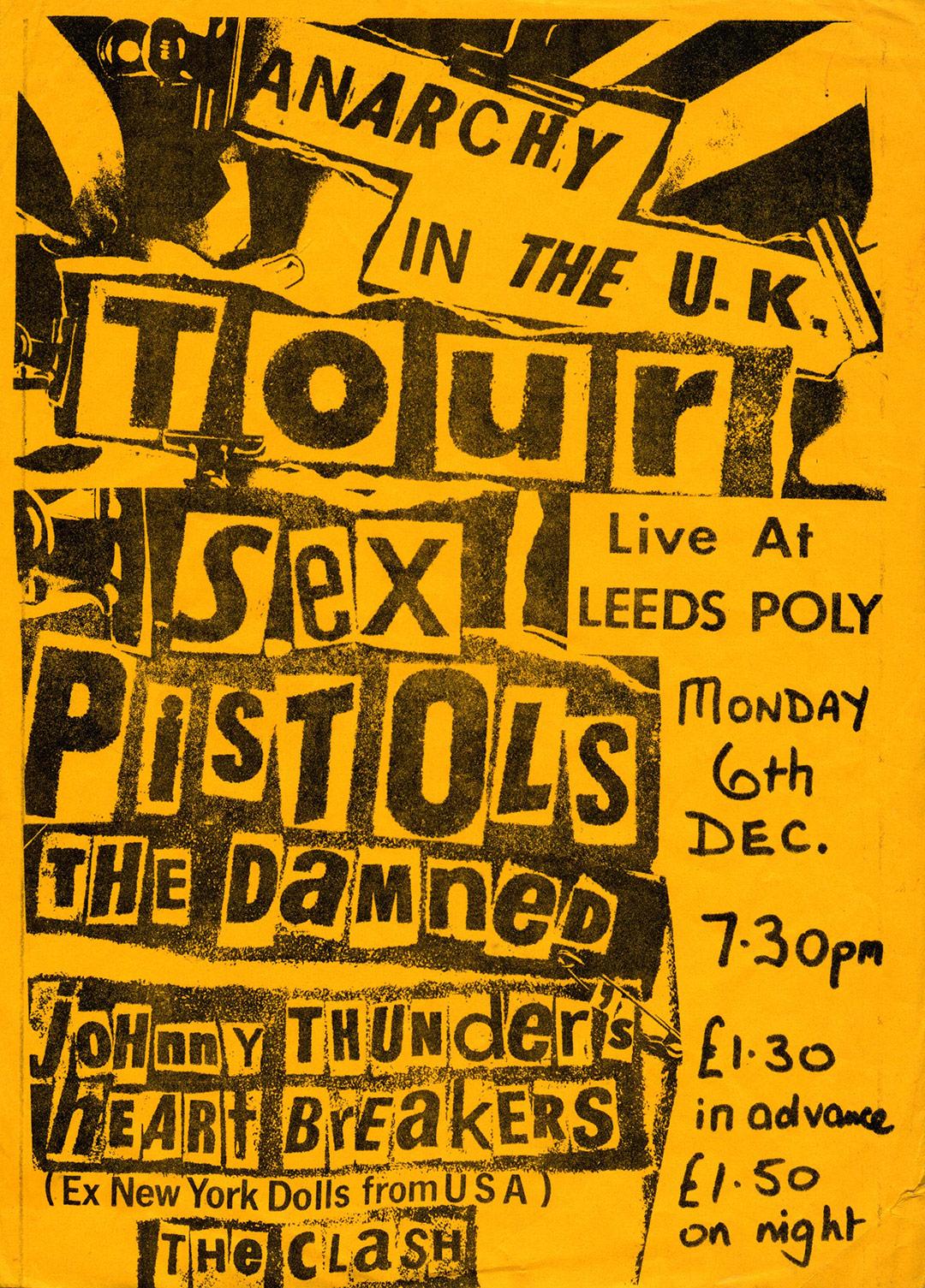 Leeds Polytechnic, Leeds, December 6th 1976 - Poster