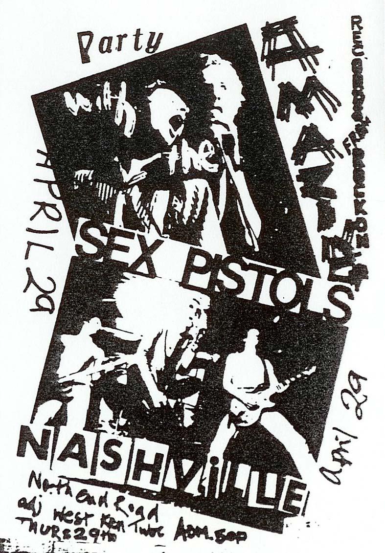 Nashville, West Kensington, London, April 29th 1976 - Flyer
