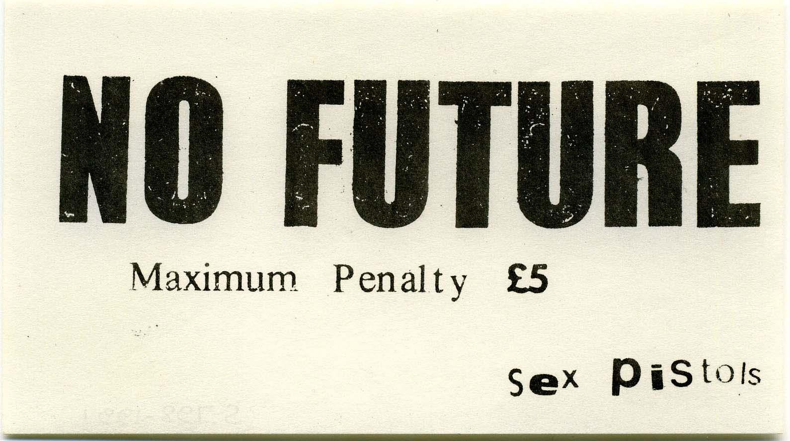 No Future Sticker 1977