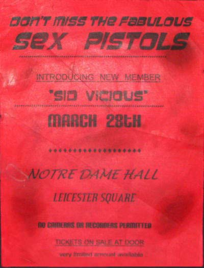 Notre Dame Hall, Leicester Place, London, March 21st 1977  - Flyer