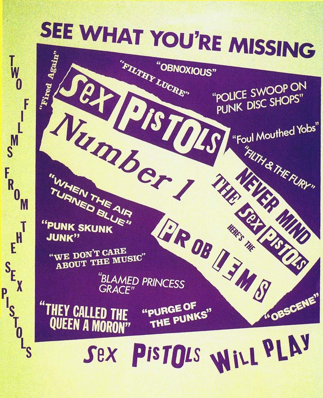 Sex Pistols Number 1 - Film Poster 1976
