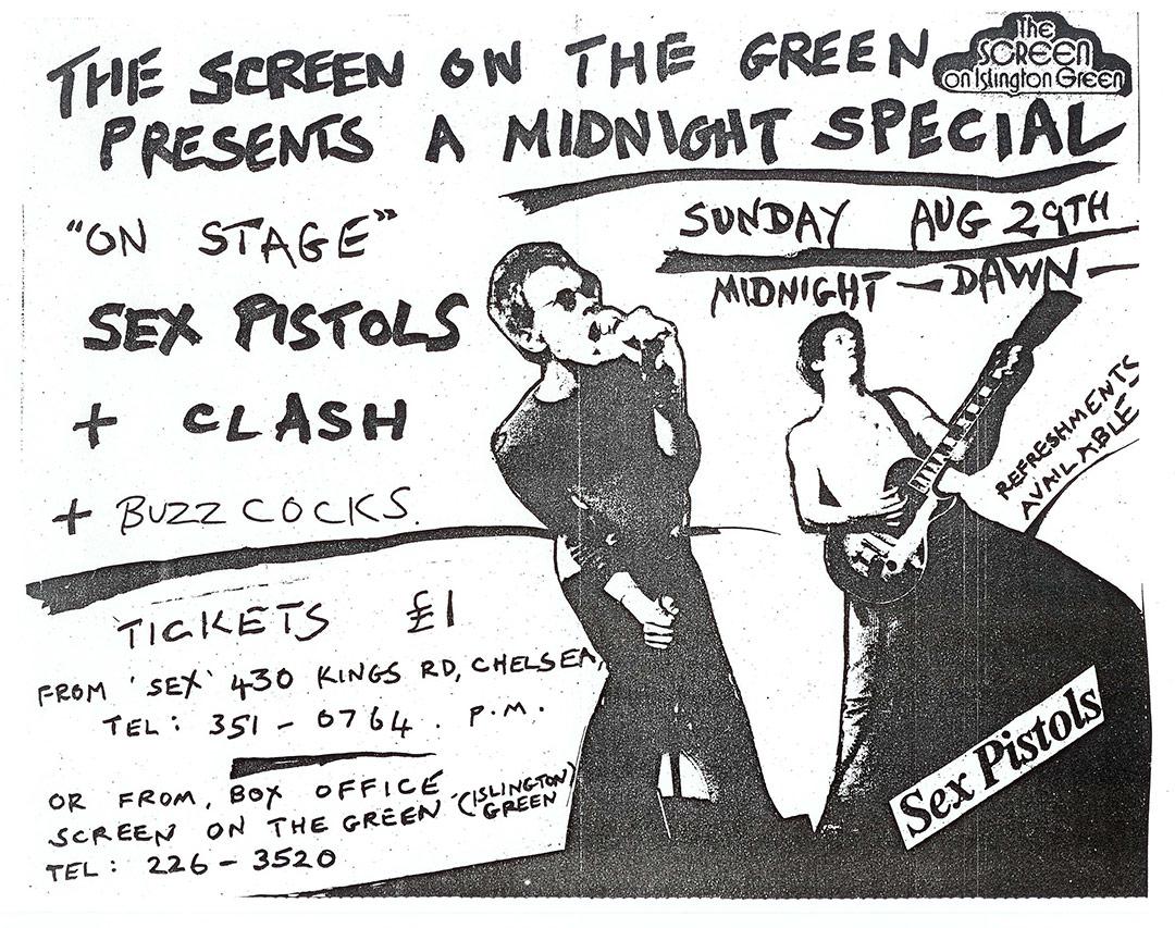Screen On The Green Cinema, Islington, London August 29th 1976 - flyer