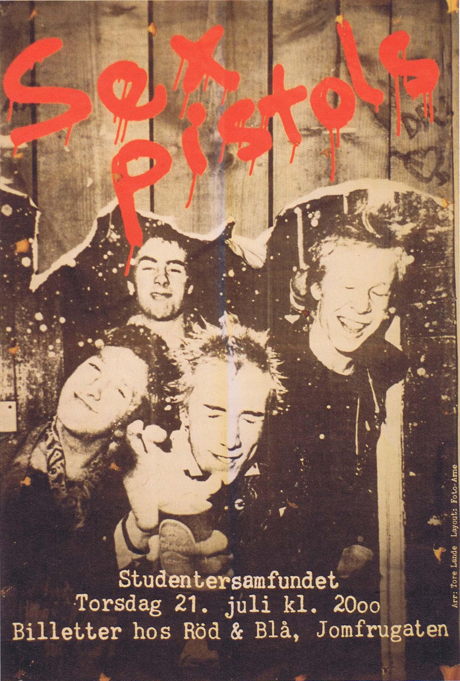 Studenter Samfundet, Trodheim, Norway, July 21st 1977 - Flyer