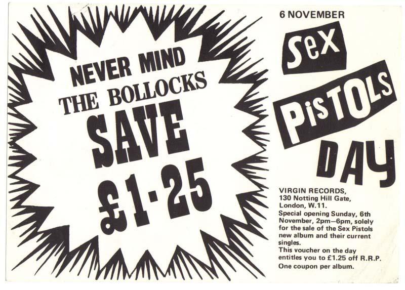 Virgin Records NMTB Voucher 1977