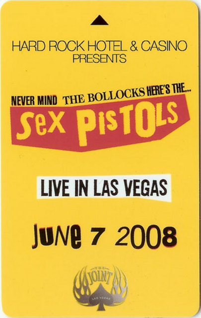 7.6.08 The Joint, Las Vegas, USA - Hotel Key Card