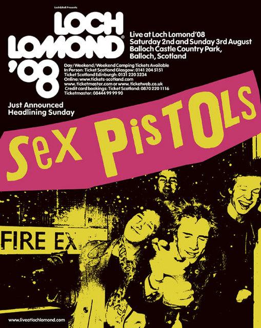 3.8.08 Live at Loch Lomond Festival, Scotland, UK - Poster