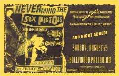 Hollywood Palladium, Los Angeles, California, USA, August 25th 1996 - Flyer