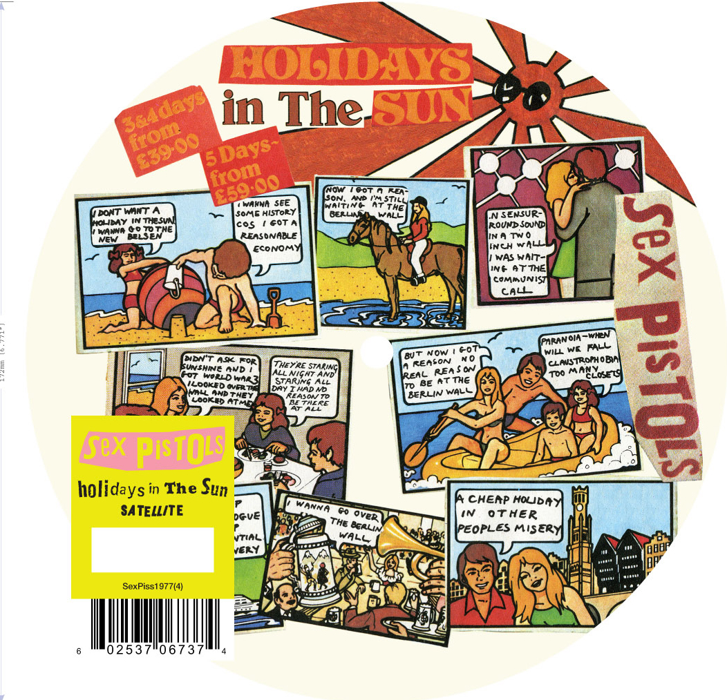 "Holidays in the Sun 7"" picture disc, 2012"