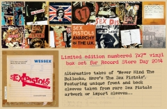 "Never Mind The Bollocks, lternative takes 7x7"" box set - Record Store Day 2014  - ad"