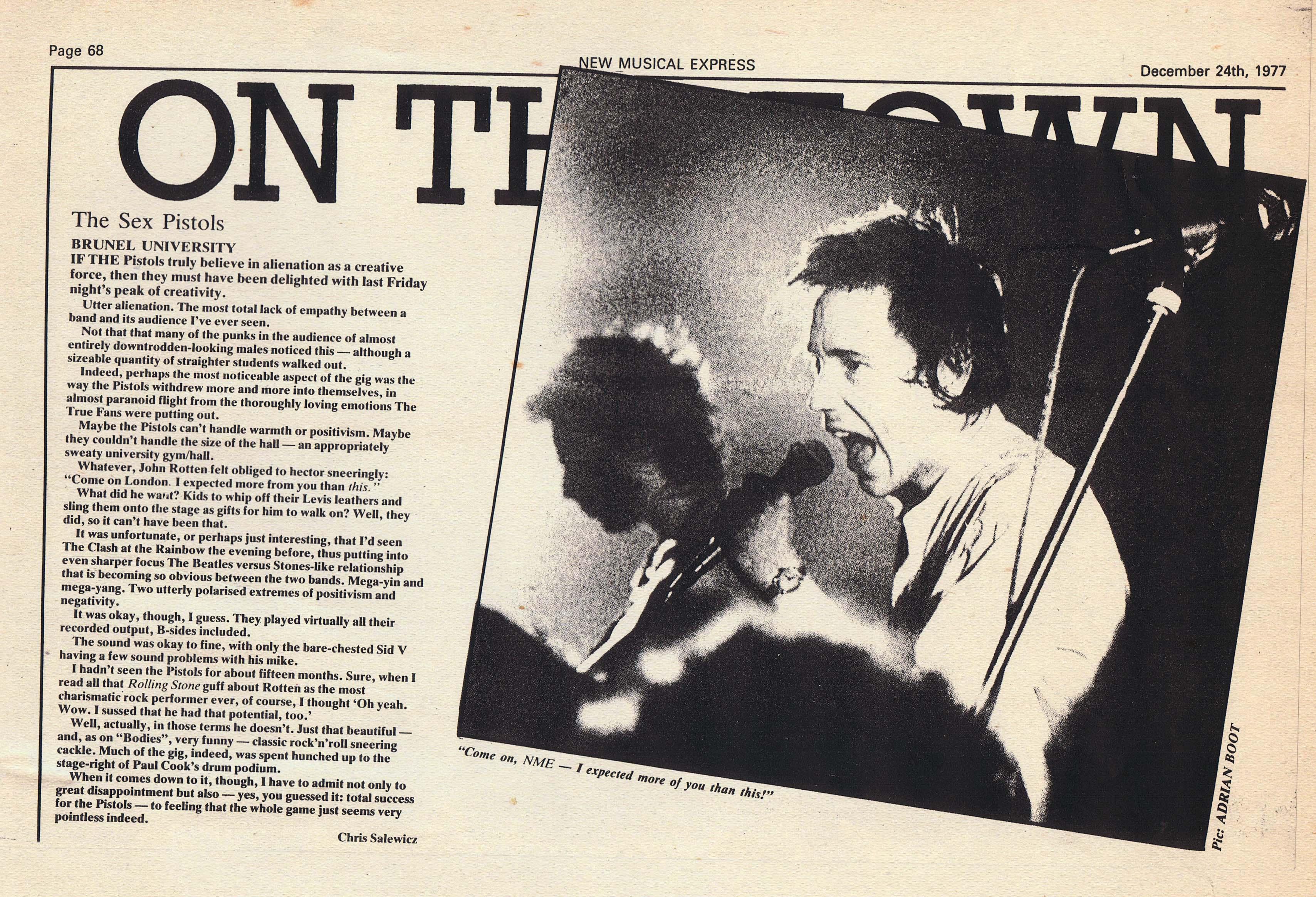 NME, December 24th 1977