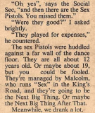 NME, December 27th 1975 (Queen Elizabeth College All Night Christmas Ball by Kate Phillips)