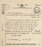Telegram, February 28th 1977