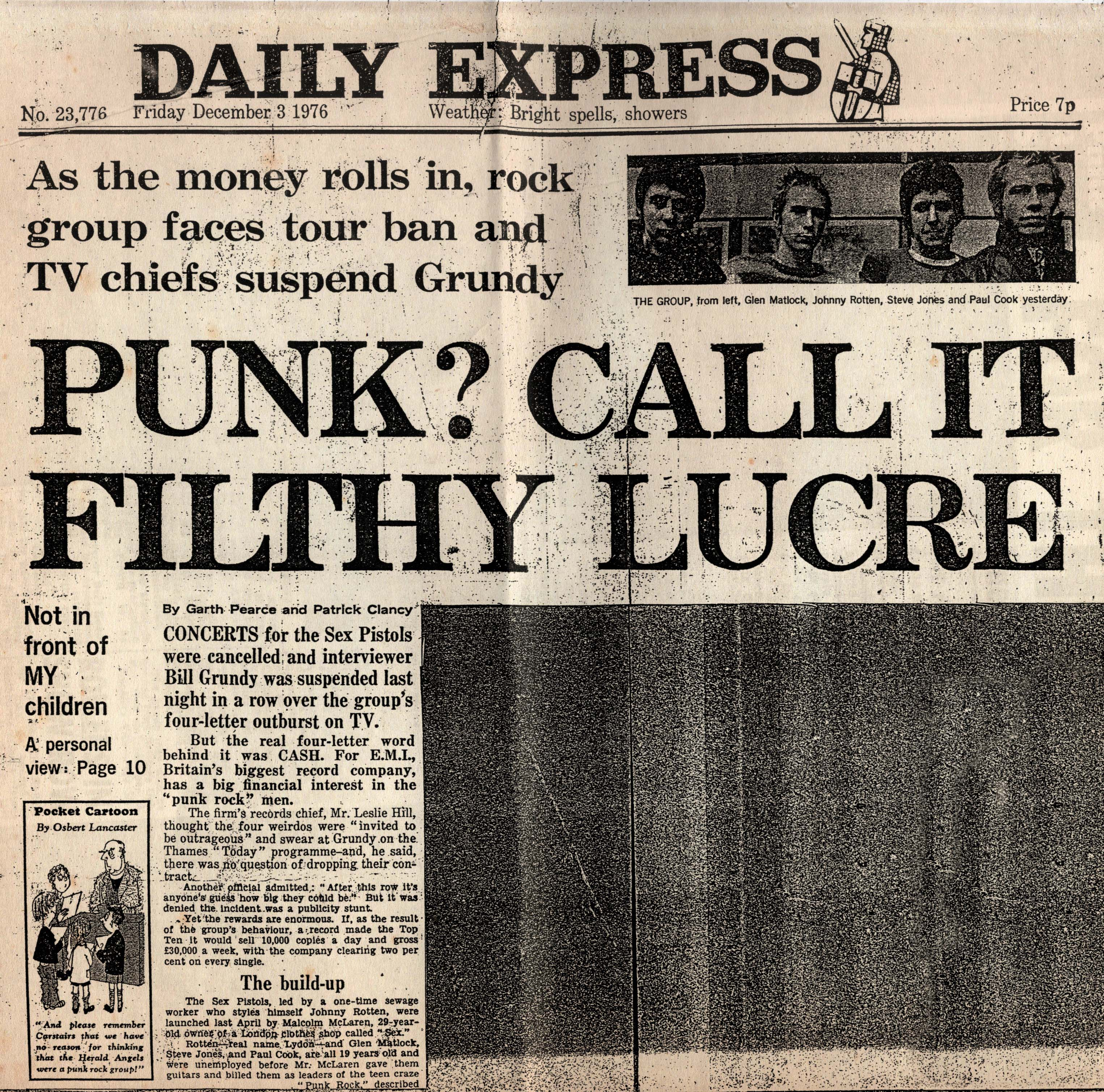 Daily Express, December 3rd 1976