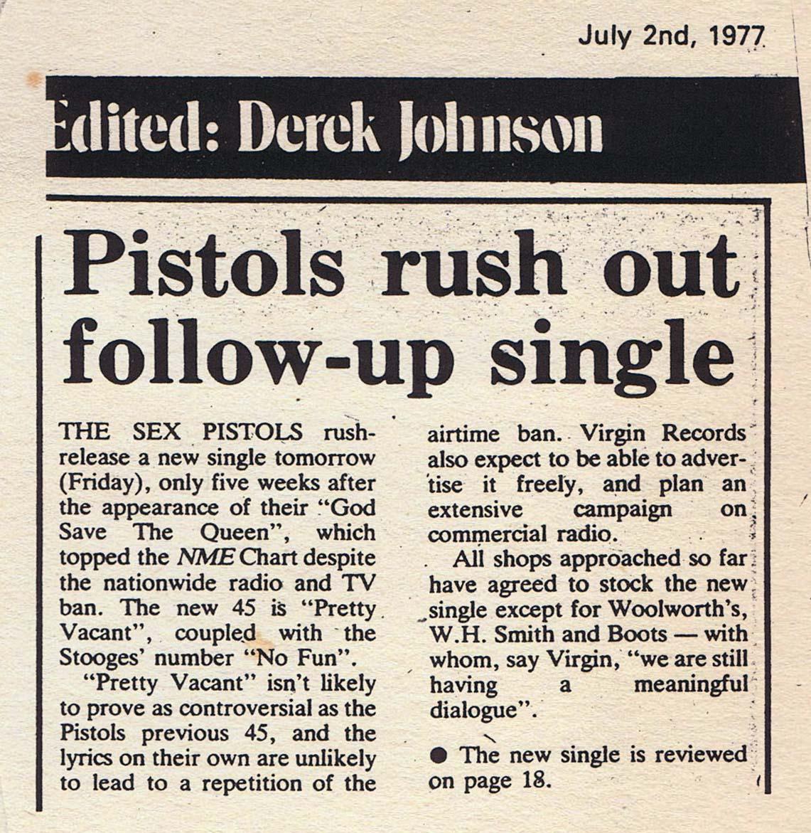 Sounds, July 2nd 1977