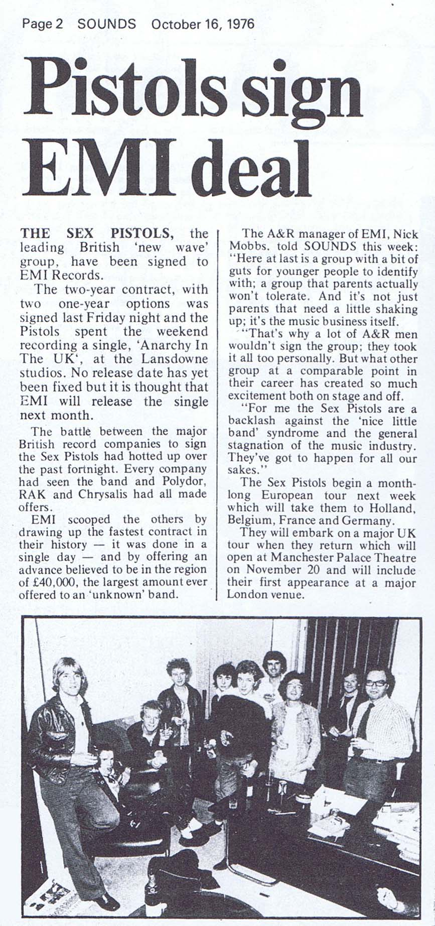 Sounds, October 16th 1976