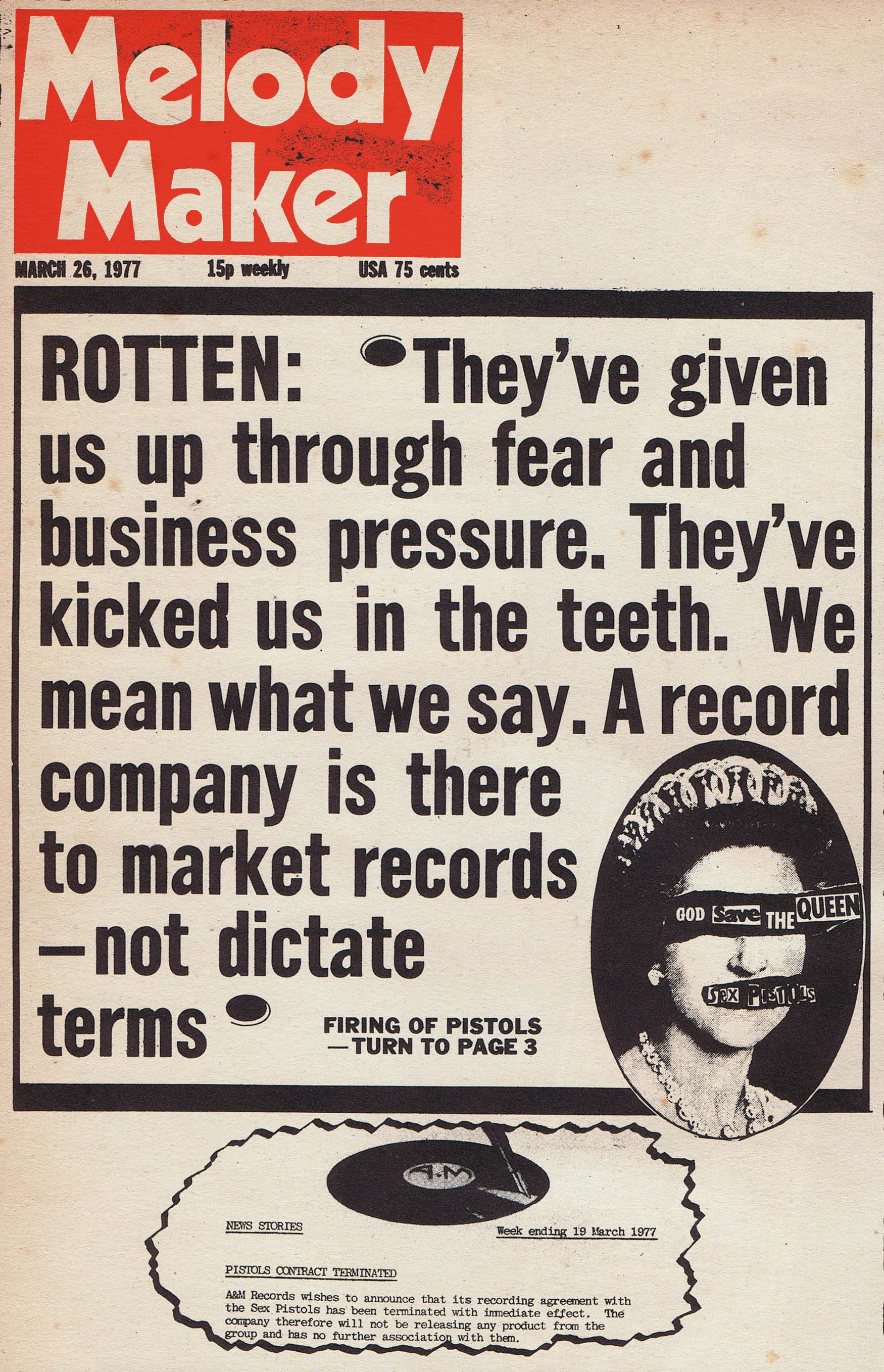 Melody Maker, March 26th 1977