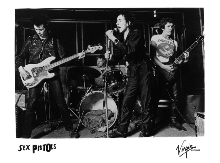 Virgin promo pic - Denmark Street, London 1977
