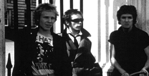 The Filth and the Fury still, Buckingham Palace 1976