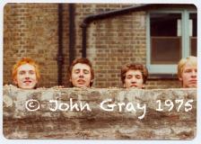 First Sex Pistols rehearsal, Chiswick, London. Photo © John Gray